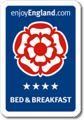Visit Britain 4 star rating for Bed &amp; Breakfast Accommodation