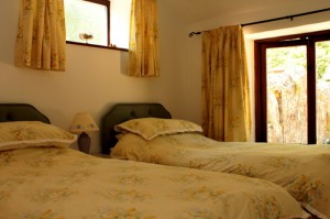 Wrinkle Mead Self-Catering Cottage, twin Bedroom, Wells